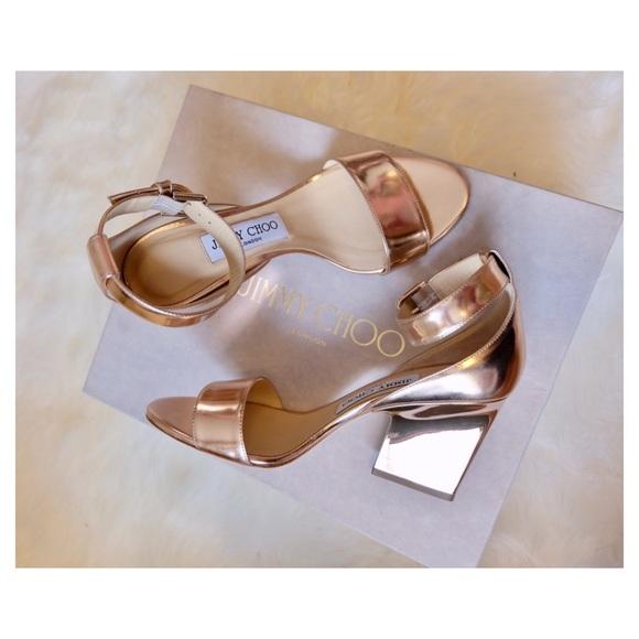fa8064360 Jimmy Choo Shoes   Edina Tea Rose Gold Heels New   Poshmark